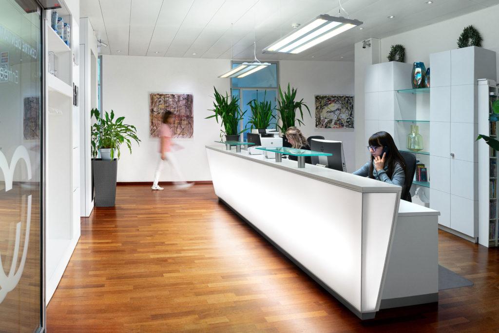 accueil du Centre Dentaire Lancy